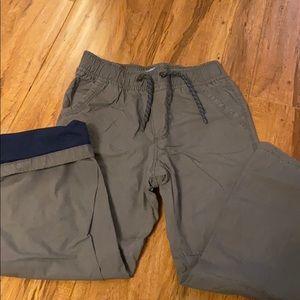 Drawstring pants with lining
